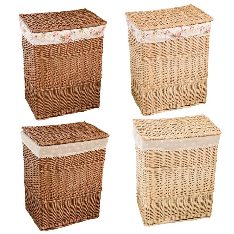 Large Capacity Dirty Clothes Storage Basket With Lid Natural Wicker Mesh Laundry Hamper Box Waterproof Bag Simple Literary