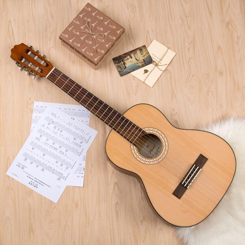Guitare classique Kapok haute qualité LC-18 39 pouces filet étudiant débutant jouer Guitare Guitarra guitares classiques chinoises Gitara