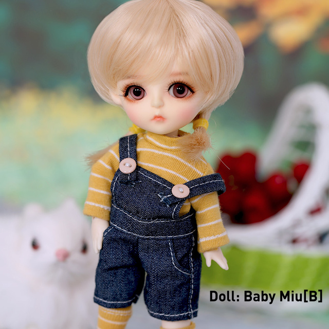 1/6 BJD doll Full Set Suit Linachouchou Daisy Miu Cotton Candy Cream Melissa Chloe Cute YOSD Wig Clothes Shoes Littlefee Fullset
