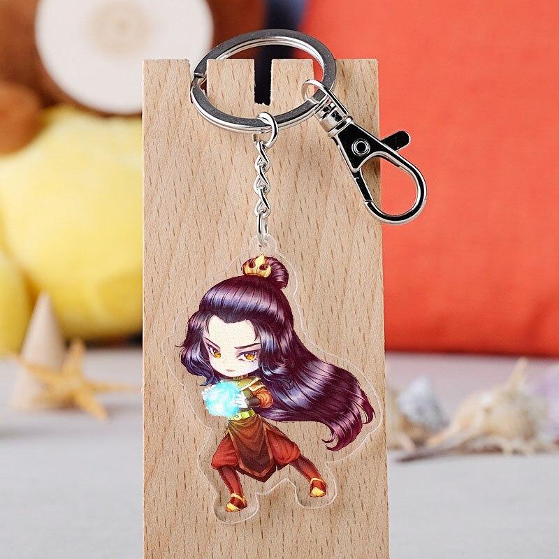 Anime Avatar The Last Airbender Cosplay Keychain Cartoon Aang Katara Appa Azula Acrylic Car Key Holder Chain Pendant Keyring