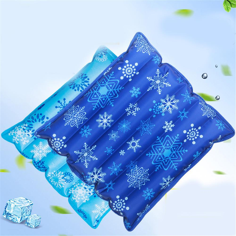 Summer Cooling Seat Cushion Air Water Ice Mat For Office Chair Car Cooling Down Pillow Cushion Pad Back Support