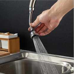 Кухня анти-всплеск Универсальный 360 градусов Поворотный кран фильтр Водопроводной воды сопла ванная комната кран фильтр насадки для душа