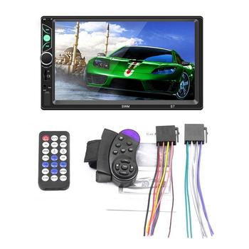New 7-inch Three-screen Car MP5 / MP4 / MP3Aluminum +abs Player Card Wireless Bluetooth Phone For Android / IPhone Internet