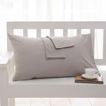 100 cotton Pillowcase Soft Decorative Pillow Case Pillow Covers Solid Color Pillowcases Multi color and multi