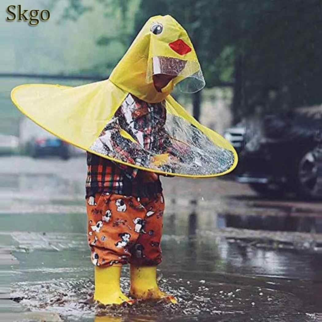 9b81707b4 Hooded Kids Waterproof Adjustable Cute 69cm 17kg Kid Cartoon Print Children  2inch 0 Rain Duck 27 Jacket Yellow Raincoat Unisex