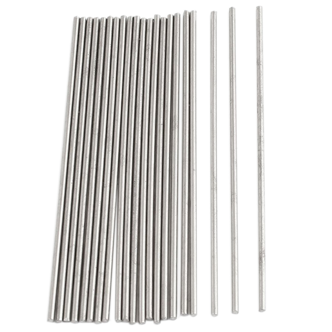 20pcs 50mm x 1mm Silver Tone Stainless Steel Transmission Round Rod20pcs 50mm x 1mm Silver Tone Stainless Steel Transmission Round Rod
