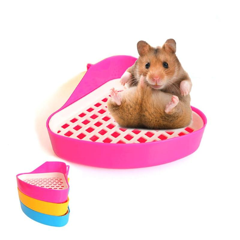 Plastic Small Pet Hamster Bathroom Toilet Guinea Pig Rat Hamster House Small Animals Cavia Hamster Litter Training Toilet Tray