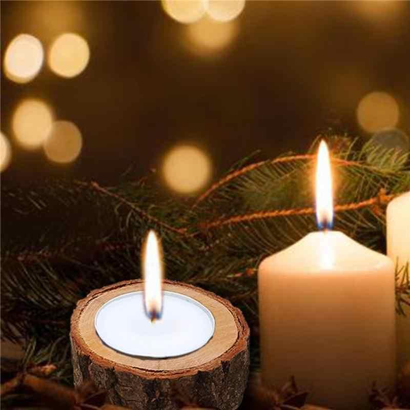Kreatywny drewniany świecznik świecznik sukulenty doniczka dekoracja biurka kora rękodzieło ręcznie ozdoby stołowe