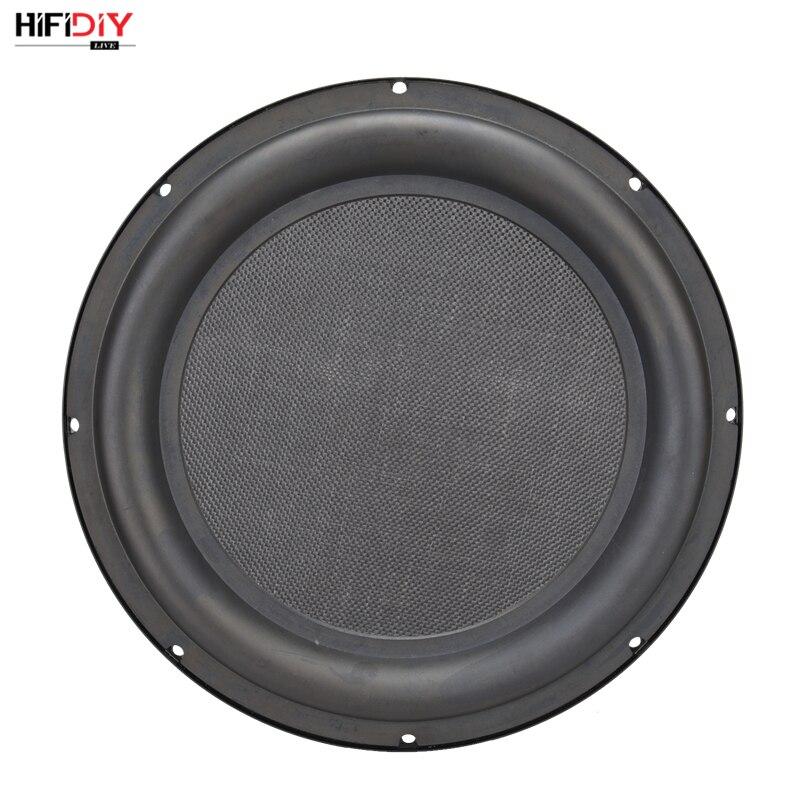 HIFIDIY LIVE 12 pouces basse haut-parleur plaque passif radiateur auxiliaire basse en caoutchouc Vibration plaque fer cadre son rayonnement 305mm