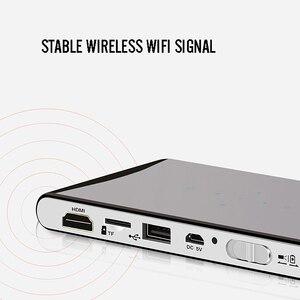 Image 5 - DLP 100Wm MINIโปรเจคเตอร์Android Beamer Built In WIFI Bluetooth,2000MAhแบตเตอรี่HDMIสนับสนุน 1080P,แบบพกพาโฮมเธียเตอร์ (EU Plug)