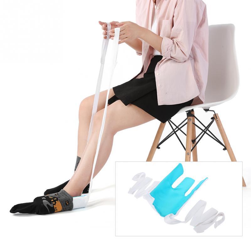 Socke Aid Geräte Helfer Set Für Ältere Senior Schwangere Dressing Aid Weiß Mobilitätshilfen