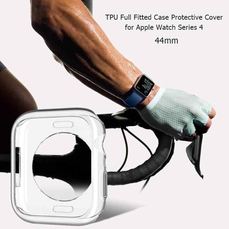 """מגן עבור אפל שעון סדרת 4 1 יחידות 44/40 מ""""מ להקה עמיד למים TPU מלא מצויד מקרה מגן כיסוי עבור אפל שעון סדרת 4"""