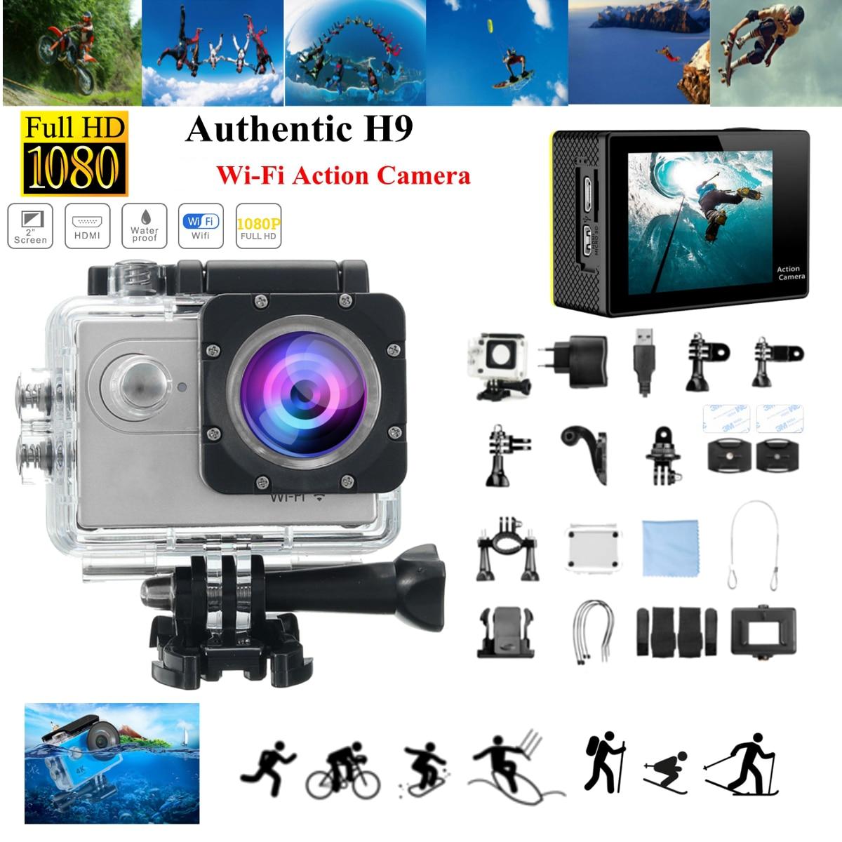 H9R/H9 SE HD 1080 p WIFI 60FPS acción del deporte de la Cámara 170 grados de la videocámara