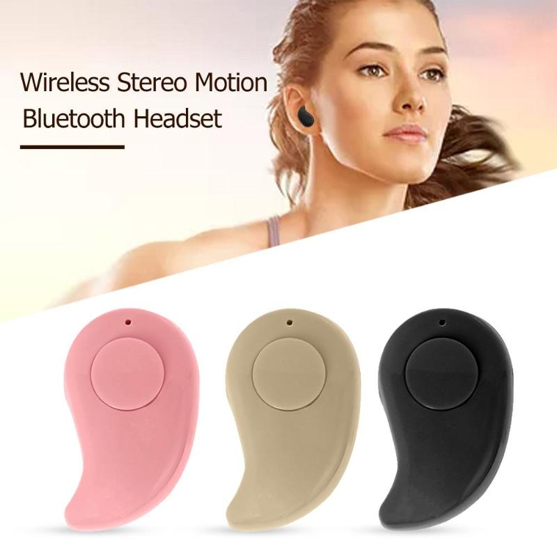 S530 Single Mini Wireless Bluetooth Earphones In-Ear Headset Sports Handsfree Stereo Earbuds Headphone with Mic for iOS Android
