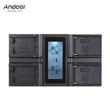 Andoer para Nikon D500 D610 D7000 D7100 D750 con cargador de coche DC EN-EL15 cargador de batería de cámara Digital de 4 canales pantalla LCD