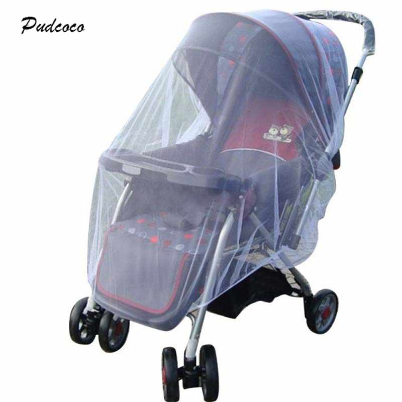 Pudcoco 1X Whtie Stroller Pushchair Mosquito Insect Net Mesh Buggy Cover for Baby Infant Outdoor protect 2018