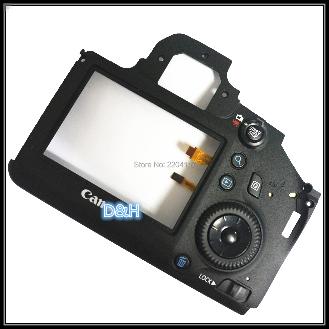 Repair Parts For Canon For EOS 6D Back Cover Rear Shell Assy With LCD External Screen Protection Board Menu Button Cable