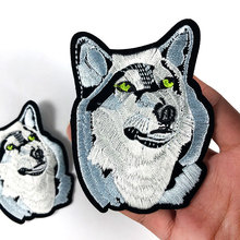 PGY 2018 New Arrival 1Pair Cool Wolf Iron on Patches / Animal Embroidered Patch Appliques for DIY T-shirt Jeans Jackets Badges