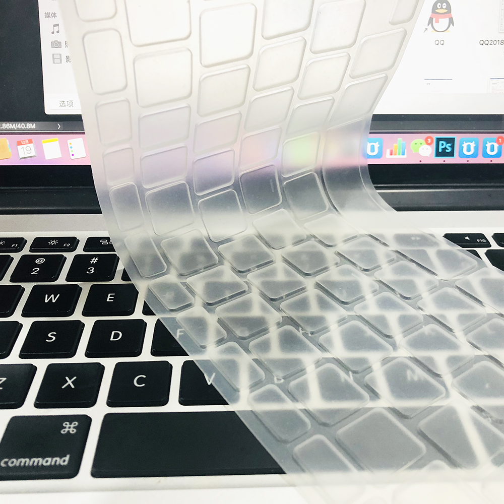 For Apple Macbook pro13/11Air 13/15 Retina12 inch All series silicone Keyboard cover Case transparent clear Protecter film EU/US 6