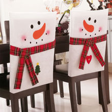 Brand New Cute Christmas Santa Claus Doll Chair Cover Xmas Table Festival Ornaments Decoration For Home