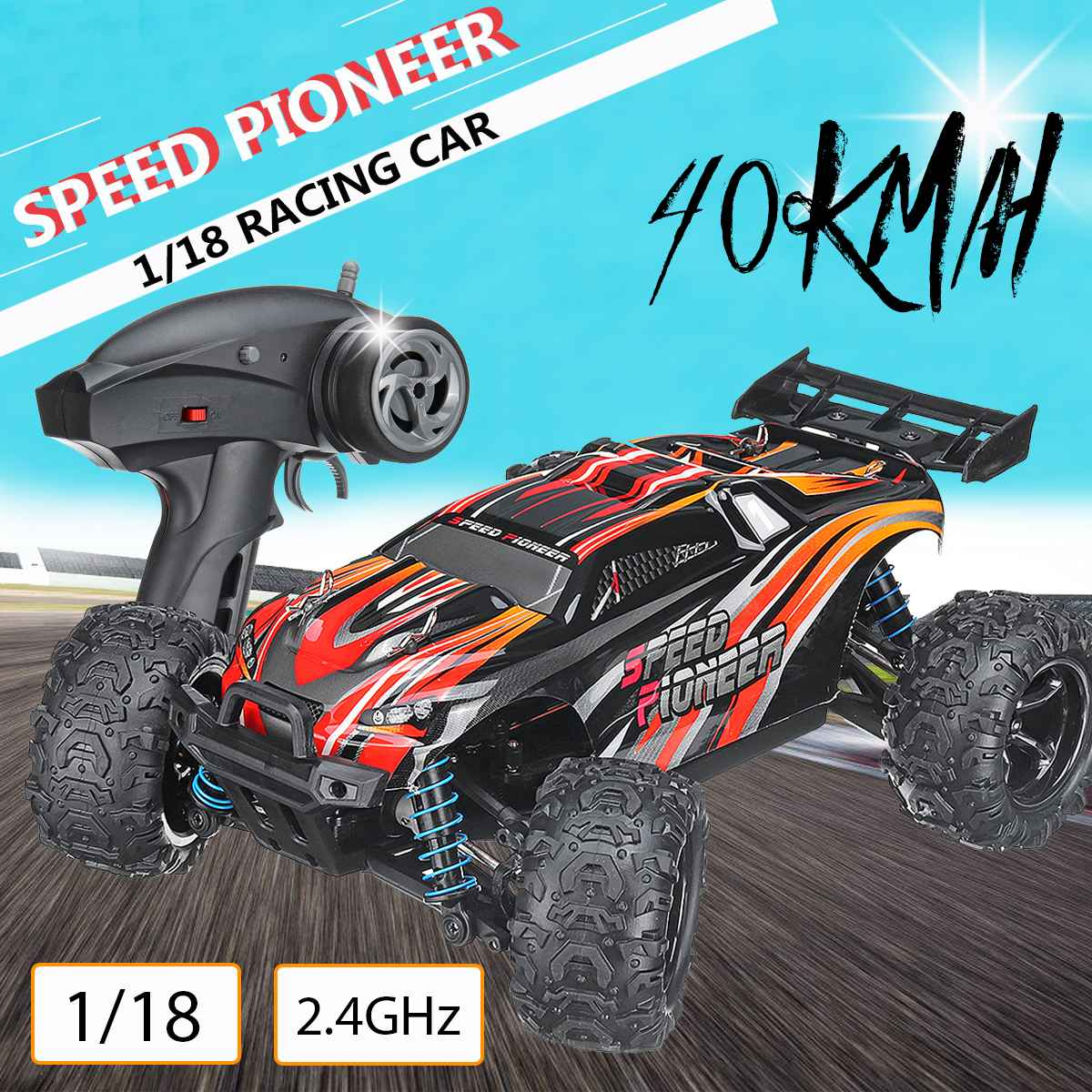 RC Car 40KM/H 2.4ghz 1:18 4WD Remote Control High Speed Truck Electric Truck OffRoad Vehicle 4x4 Driving Car Vehicle ToyRC Car 40KM/H 2.4ghz 1:18 4WD Remote Control High Speed Truck Electric Truck OffRoad Vehicle 4x4 Driving Car Vehicle Toy