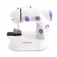 Electric Mini Sewing Machine Overlock Dual Speed Household Foot Pedal Sewing Machine Double Threads Knitting Machine EU PLUG35