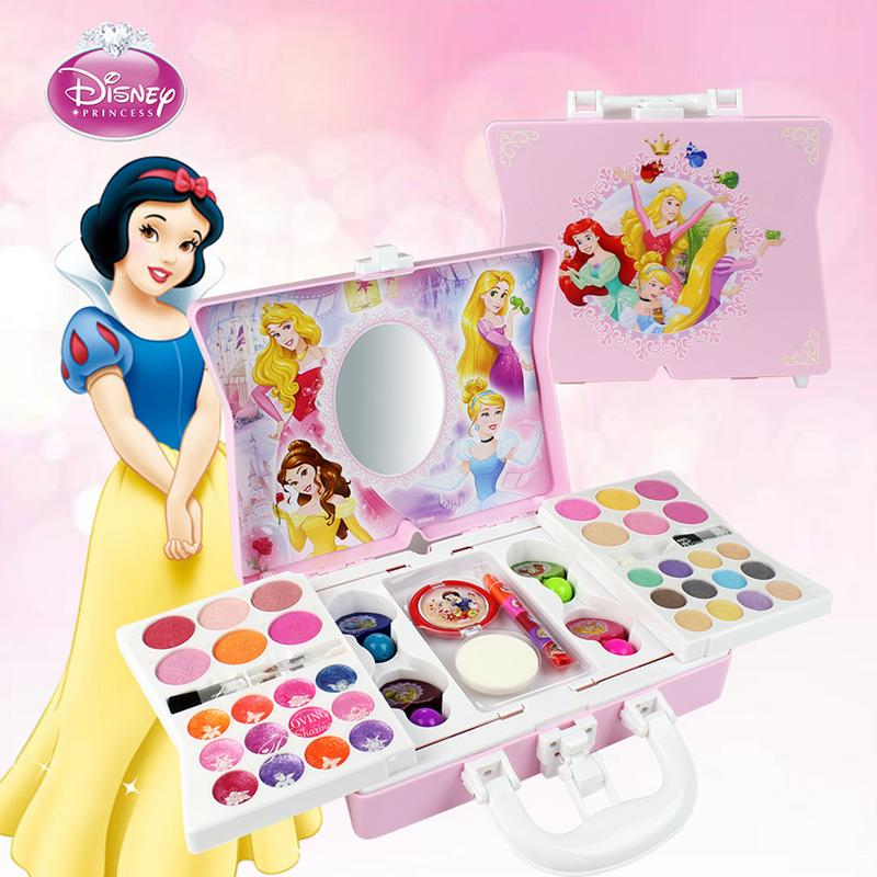 53Pcs Cosmetic Makeup kit for Disney Princess Style for Girl Practicing Make Up Skill Toy Ornaments