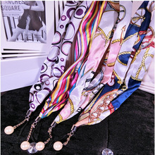 Mobile phone silk scarf lanyard universal fashion pearl rotating mobile shell hanging neck rope