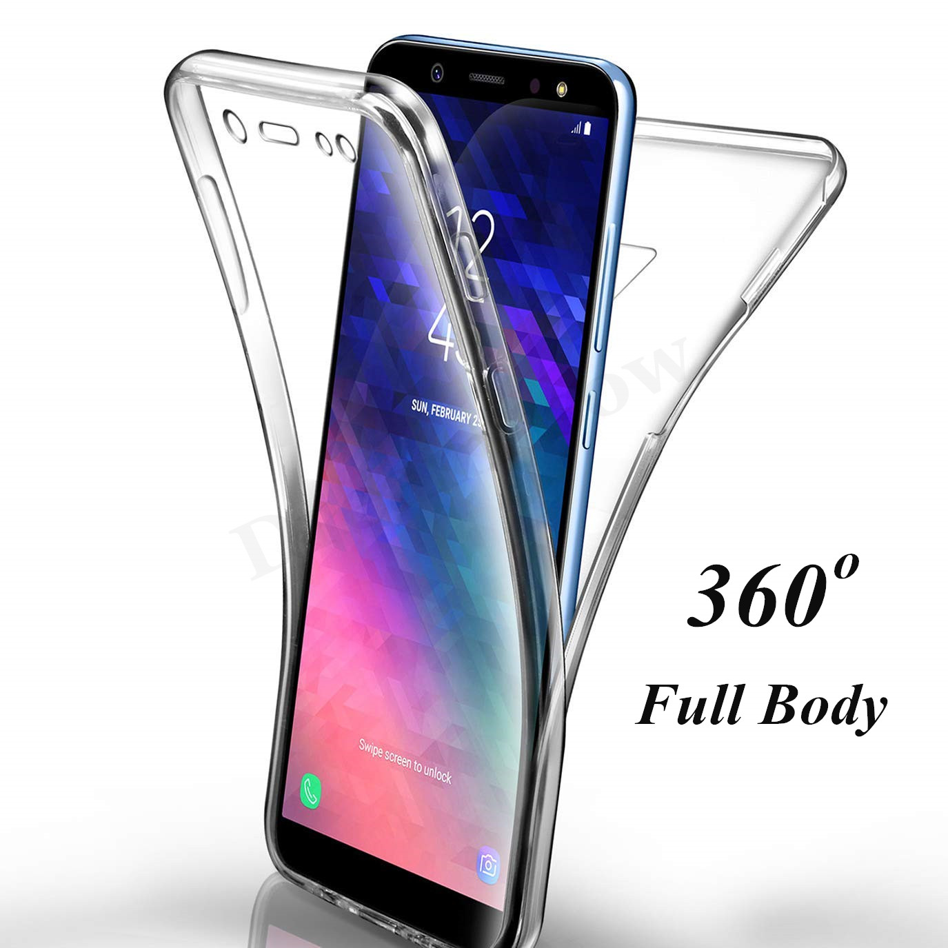 Full Body Soft TPU Case For Samsung Galaxy S10 E S9 S8 Plus A6 A8 Plus A750 A3 A5 A7 J3 J5 J7 2017 S6 S7 Edge Note 8 9 Case