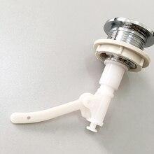 Подпружиненный унитаз легко установить оборудование Замена пресс тип Кнопка гальваническим двойной флеш круглой формы