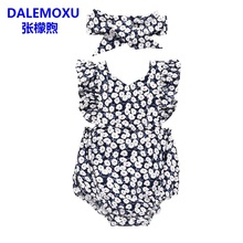 DALEMOXU Summer Newborn Infant Baby Girls Clothing Cute Flower Ruffle Girl Jumpsuit Toddler Romper Overall Costumes 1st Birthday