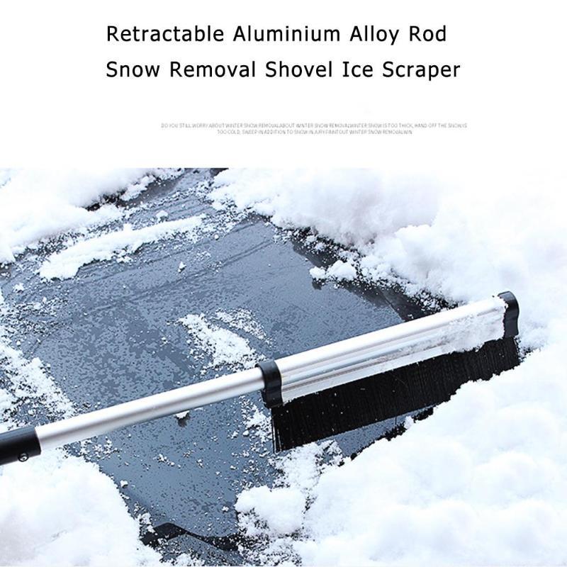 Spade & Shovel Retractable Shovel Snow Shove Aluminium Alloy Rod Windshield Ice Scraper Outdoor Ski Sport Snowboard Snow Tool Garden Tools