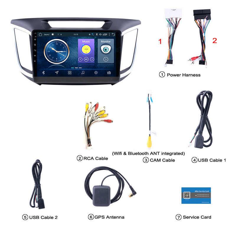10,1 pulgadas HD LED pantalla táctil completa Android 8,1 navegación GPS para Hyundai IX25 2014-2018 sistema estéreo con bluetooth