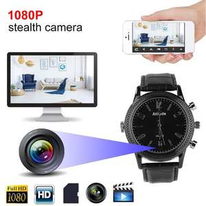 1080 P FHD Infrared Night Vision Camera Watch Camcorder Video Recorder