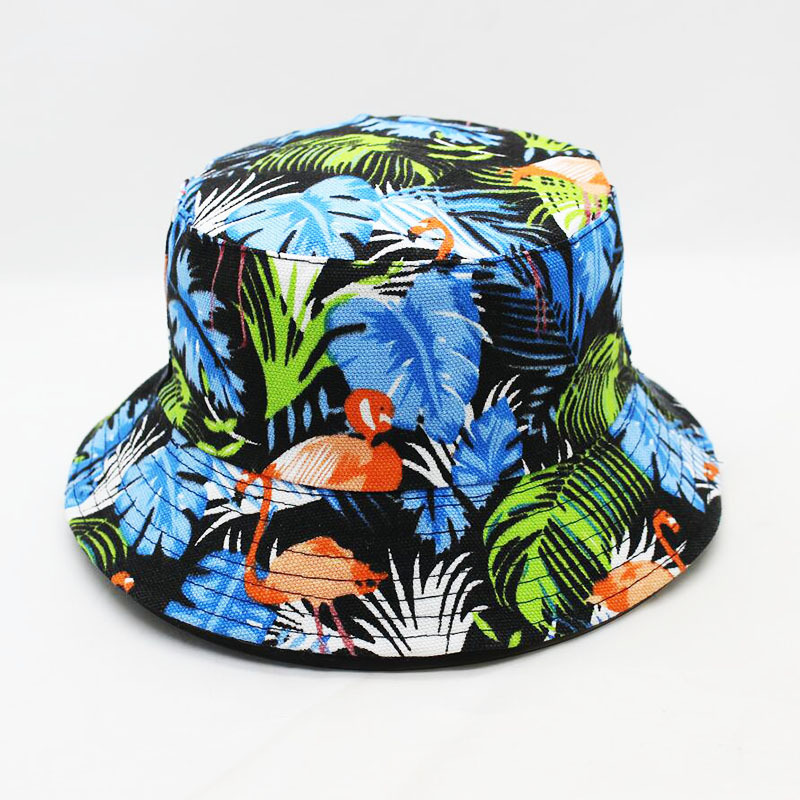 Aggressive Printed Floral Two-sided Fisherman Summer Bucket Hat Women Wide Brim Fishing Waterproof Sun Hats Protection Uv Folding Basin Cap