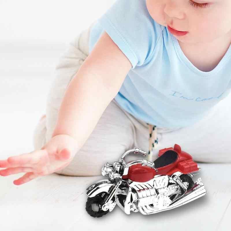 เด็กรถจักรยานยนต์ดึงกลับของเล่นมอเตอร์ไซด์พลาสติกของเล่นเพื่อการศึกษาเด็ก Montessori การพัฒนาความคิดสร้างสรรค์ของขวัญ