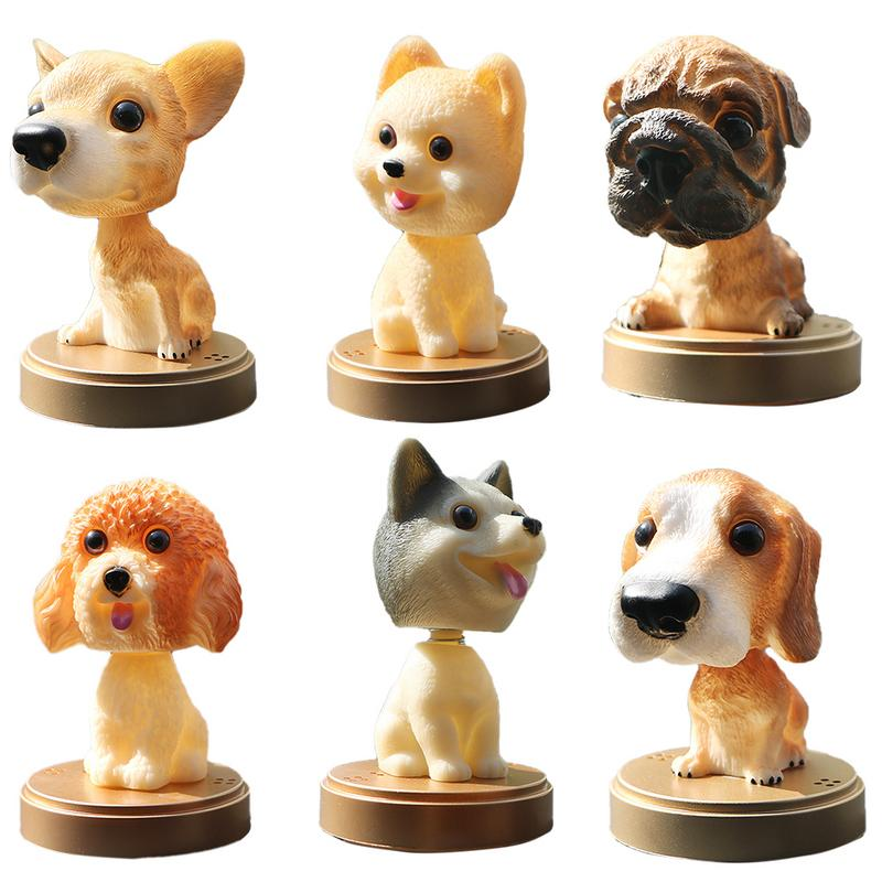 Car Perfume Cute Cartoon Shaking Spring Dog Animals Touch Environmentally Ornaments Aromatherapy Seat Accessories