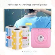 3 рулона прямые Термоэтикетки рулон 57*30 мм сильная клейкая наклейка прозрачная печать для PeriPage A6 карманный BT термопринтер