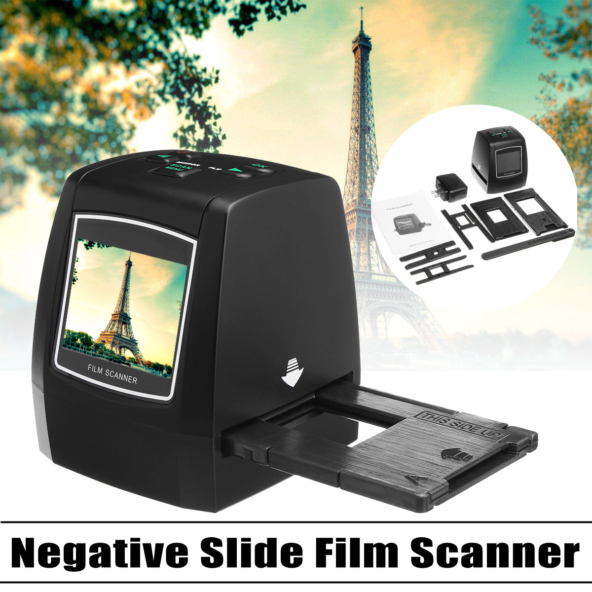 High Resolution 35mm 135/126/110/8mm Negative Slide Film Scanner Photo Digitalizer Analog to Digital File 14MP/22MP bfq262a to 126