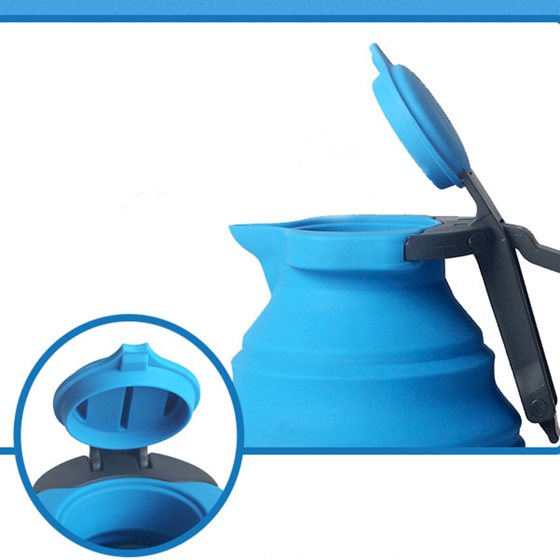 hot tod-portable folding silicone water kettle 1.5l and water hot pot for outdoor