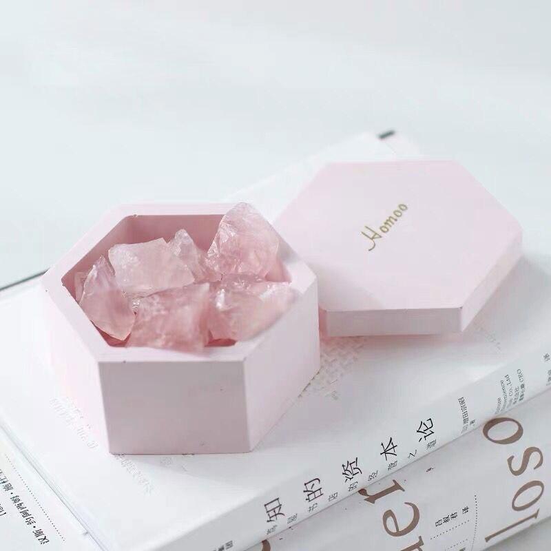 Béton Silicone boîte de rangement moule design géométrique cendrier époxy gypse chandelier bijoux boîte de rangement ciment argile artisanat moule