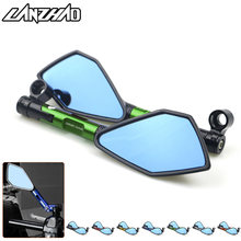 For Kawasaki Z900 Z900RS Z800 Z1000 Motorcycle CNC Aluminum Rear View Mirrors Blue Glass Side Mirror Green Black Gold Red Orange(China)