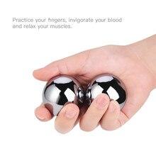 2 Pcs Baoding Bolas Chinese Saúde Exercício Bolas de Stress 39mm Meridiano Bola Para O Exercício Do Cérebro Mão com Caixa De Armazenamento de Metal 31