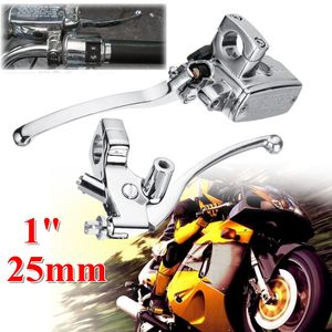 Image 1 - 2pcs Left Right 1inch 25mm Motorcycle Handlebar Hydraulic Brake Clutch Lever Master Cylinder Universal Aluminum Alloy
