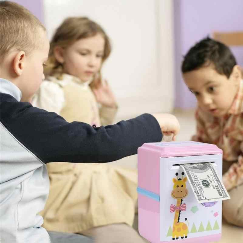 חם אוטומטי חיסכון תיבת ילדי כסף תיבת חיסכון קריקטורה בנק בטוח מטבע הפקדת ילדים צעצוע Dropshipping