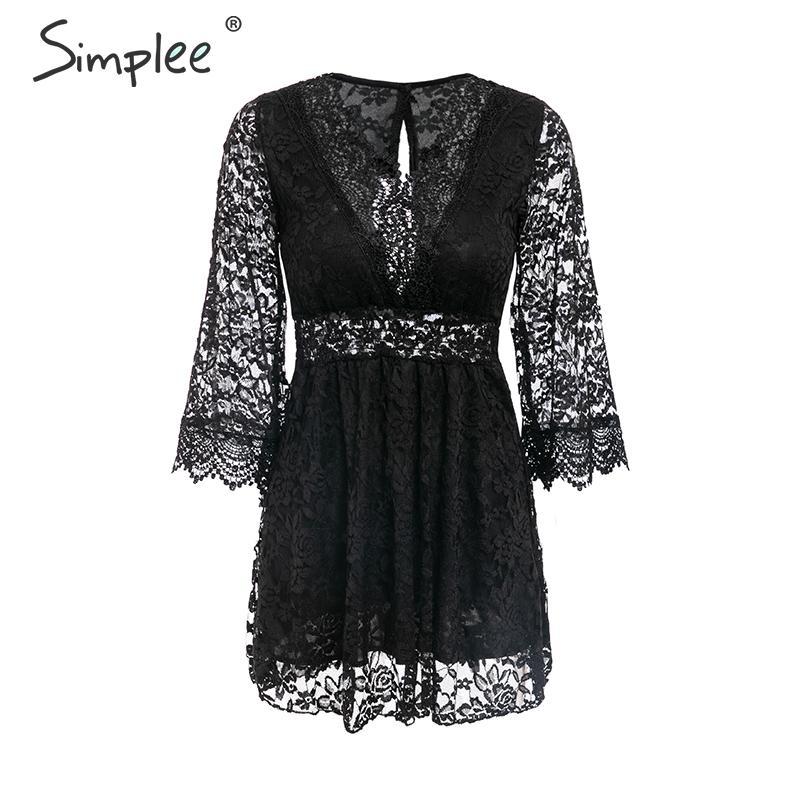 Простая вышивка, белое кружевное платье, женское летнее соблазнительное с открытой спиной, короткие платья больших размеров, с длинным рука...