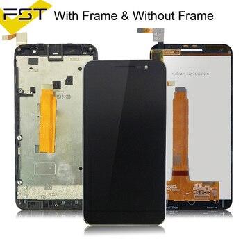 Vodafone Akıllı Prime için 6 VF895 VF 895N V895 VF895N 895N VF 895 lcd ekran + dokunmatik ekranlı sayısallaştırıcı grup Ile Çerçeve