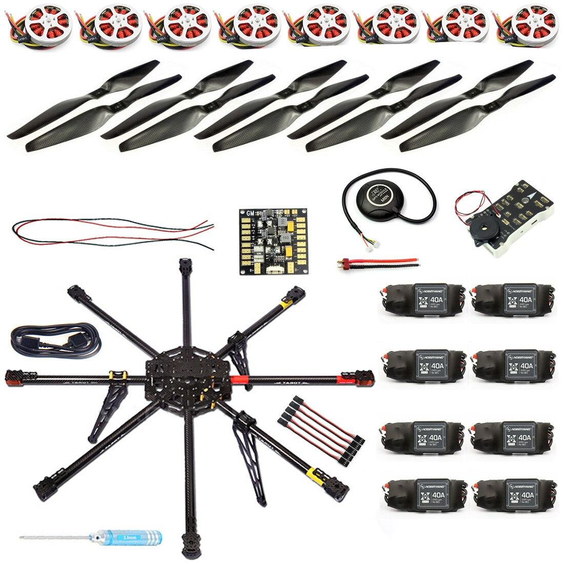 JMT DIY 8-Achse Unmontiert RC Drone 1000mm Carbon Octocopter PX4 PIX M8N GPS RC Drone PNF Kit keine Fernbedienung Batterie FPV F04765-B