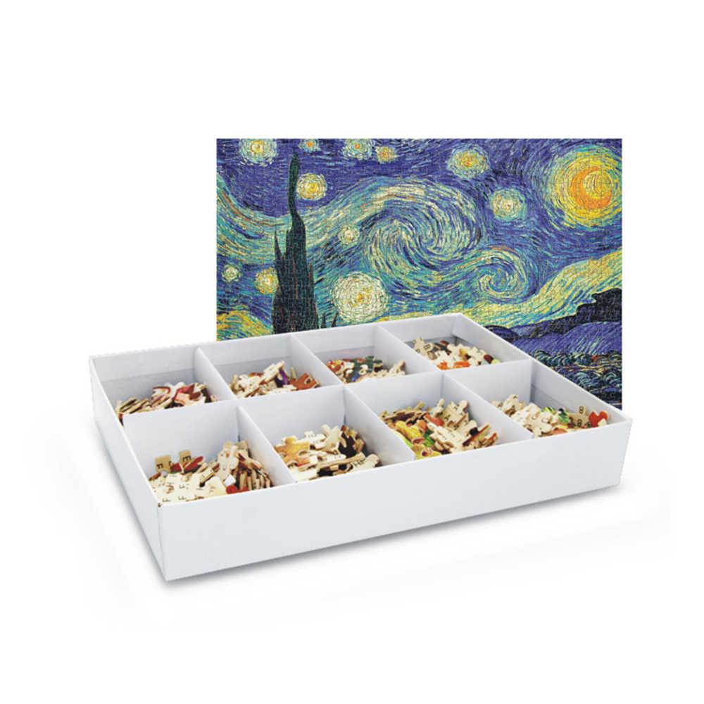 4 tipos 1000 piezas animales mundo mapa rompecabezas juguete 1000 piezas pez perro encantador papel de madera rompecabezas Año Nuevo regalo para los niños
