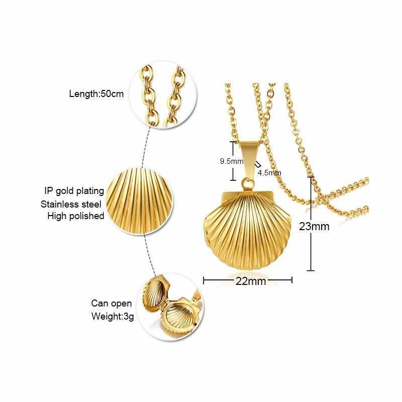 トレンディシェルフローティングロケットネックレスのペンダントゴールドカラーヴィンテージフォトチャーム女性ネックレス
